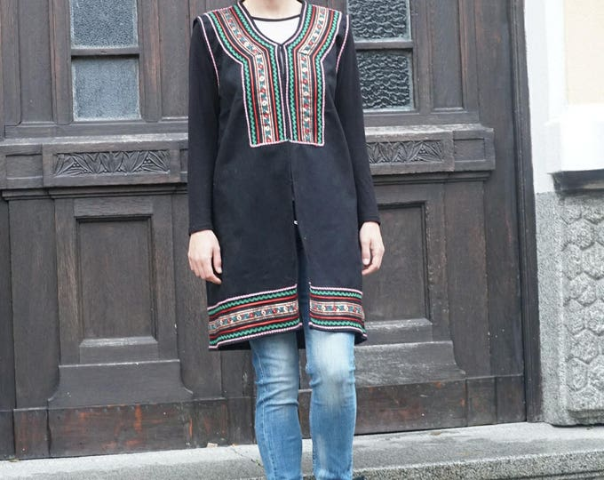 Wool Cashmere Ethno Coat Vest, Grunge Edgy Vest, Extravagant Festival Vest Jacket, Winter Fashion
