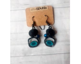 Earrings handcrafted amulet bohemian slopes