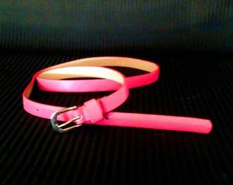 Thin Pink Belt