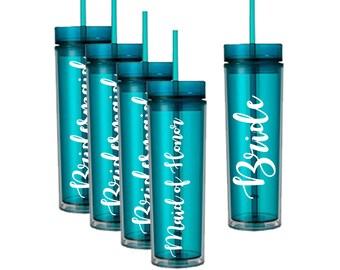 Wedding Tumber | Bachelorette Party Gift | Bridesmaid Tumbler | Bridesmaid Gift | Wedding party Gift | Bachelorette Tumbler