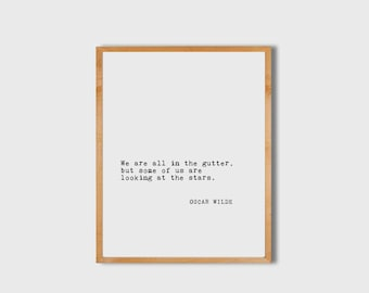Literary Poster, Oscar Wilde, Literary Print, Book Art, Literary Quote, Inspirational Wall Art, Literary Poster, PRINTABLE