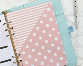 Stripes & Polka Dots Pocket Folder | Planner Pocket | Pocket Divider | Pocket Dashboard - A5