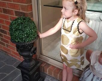Gold Spot Dress, size 3 or 4