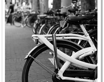 Amsterdam Bicycle Wheel Photographic Print