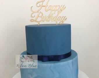 Happy Birthday Wood or Acrylic Cake Topper- Birthday Cake Topper/Happy Birthday Cake Topper/Wood Cake Topper/Birthday Party/Birthday Cake