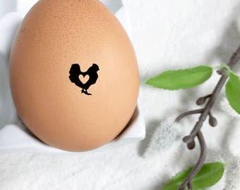 Egg Stamp Mini - The Original Chicken Heart - Chickens - Stamp for Egg - Custom Egg Stamp - Chicken Lover - Chicken Stamp - FarmhouseMaven
