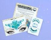 Mermaid Glitter, Glitter False Eyelashes, Face Gems, Mermaid Fancy Dress, Face Jewels, Costume, Unicorn, Glitter Makeup, Festival Makeup