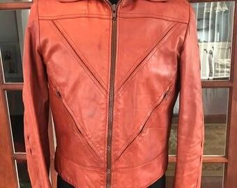 Vintage 1970's Saxony Leather Jacket