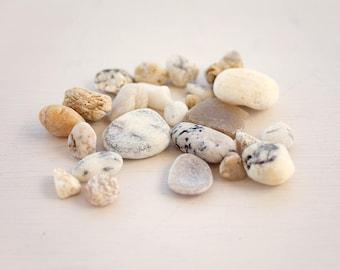 QUARTZ STONE MIX | Semi precious stones | Pale white stones | Craft Supplies | Fairy garden decor | geological mineral finds | Ethical stone