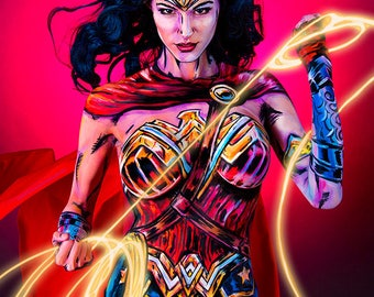 Wonder Woman Rebirth Movie Bodypaint 8.5x11 Print