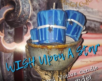 WISH Upon a Star ~ Royal Enchanted Votive Candle