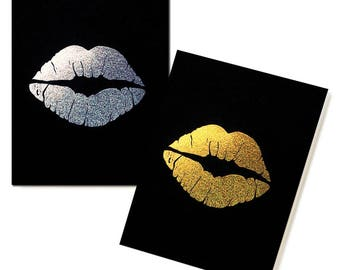 Glitter Lips Pocket Notebooks - Set of 2