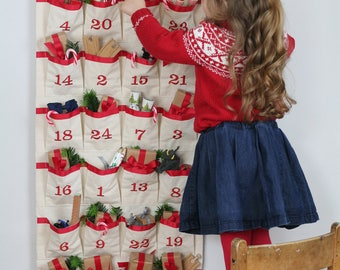 Advent Calendar - Fabric Advent - Christmas Countdown Calendar - Kids Advent Calendar - Christmas Calendar - Fabric Advent Calendar