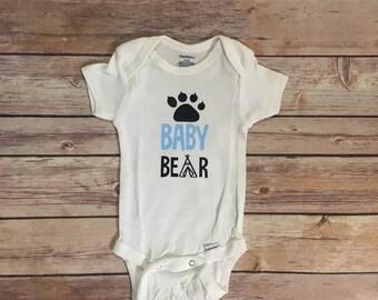 Baby Bear Onesie/Baby Bear Bodysuit/Mama Bear/Momma Bear/Cute Baby Clothes/Outdoor Baby Onesie/Wilderness/Family Bear Set/Hunting/Boy Baby