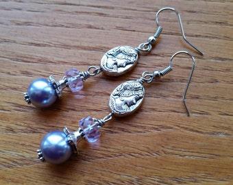 Metal Cameo Earrings.