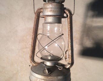 Antique petrol oil lamp Rustic Kerosene lantern Antique storm lantern Rustic decor accessories Primitives homedecor Old lamp rustic lighting