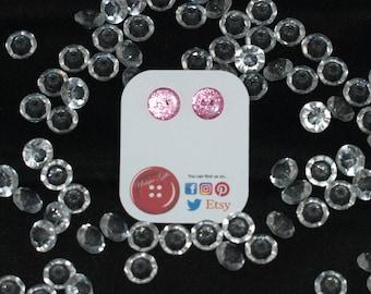 Button Earrings, Titanium Earrings, Button Studs, Unique Earrings, Button Jewellery, Titanium Jewellery, Button Art Earrings, Earrings, Stud
