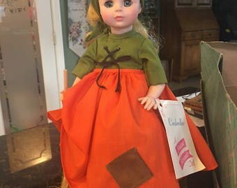 """Vintage Madame Alexander Poor Cinderella Doll 14"""" with Stand ~ Complete and in Excellent Condition"""