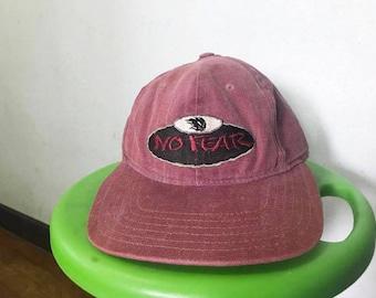 Vintage NO FEAR Snapback Hat Free Shipping 90s Nofear hat Cap Red Hat Dad Hat Skateboard Hat Hip Hop Hat Summer Hat