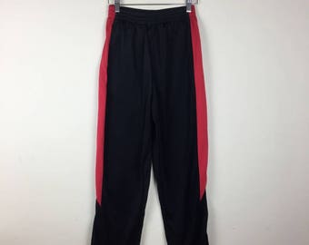 90s Black and Red Track Pants Size Small, Sporty Track Pants, Black Track Pants, Women's Track Pant