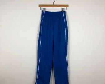 90s Blue Track Pants Size XS, Sporty Track Pants, Blue Track Pants, Women's Track Pant