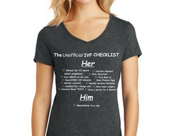 "The Unofficial IVF CHECKLIST - Very Funny, lists ""His"" and ""Her"" Responsibilities"