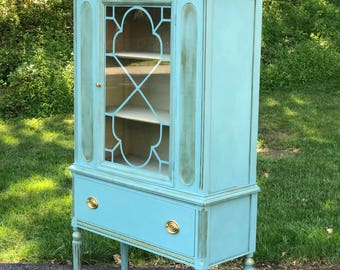 Antique china curio cabinet
