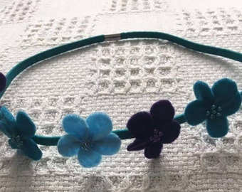 Mermaid hair elastic flower headband