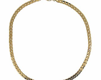 Monet 1980's Gold Plated Vintage Chain Necklace
