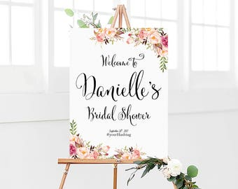 Bridal Shower sign, Bridal Shower Welcome Sign, Bridal Shower decoration, welcome sign, Bridal shower banner, Shower sign, Bridal shower
