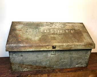 Heavy Vintage Mailbox | Embossed Name