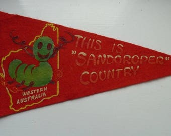 Western Australia Pennant Souvenir , Sandgroper Character.