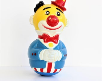 Roly Poly Clown,Musik Roly Poly Clown,Circus Clown,Stand up Toy with Weight at Bottom