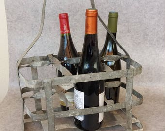 Vintage bottle rack