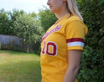 Vintage Football Jersey Athletic Sports Baseball 1960s 1970s Southland Athletics Cougars Washington State 60s