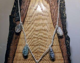 Wire Wrapped Raw Stone Necklace