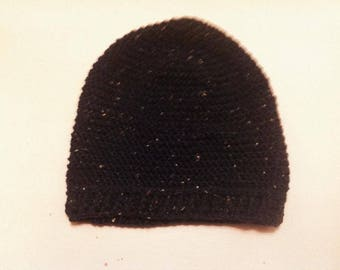Black Tweed Gents Beanie