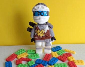 Ninjago style cake topper with 20  lego bricks