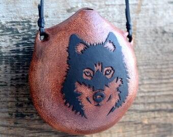 "Ocarina ""Amulet of the wolf"" / ceramic flute/E key / pentatonic ocarina"