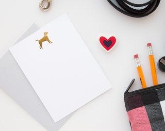 Dog Gold Foil Flat Note Set