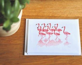 Flamingo Cards - set of six A6 cards