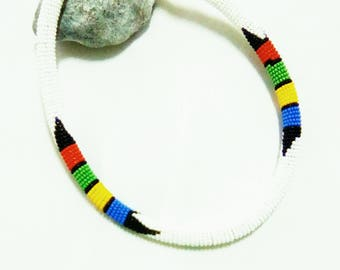 African necklace Women necklace African jewelry Beaded necklace African choker Zulu choker Kenyan Necklace  Zulu Necklace  Bohemian Boho