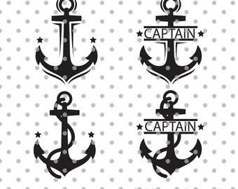 Anchors svg, captain svg, sea life svg, navy svg, dxf, DXF, Cricut Design Space, Silhouette Studio, Cut Files, at sea svg