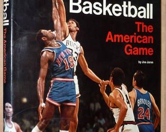 Basketball: The American Game by Joe Jares 1st Edition Hardcover HC w/ Dust Jacket DJ Follett Publishing Sports Athletics