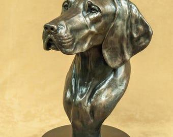 Vizsla Limited Edition Life Size Cold-Cast Bronze Bust Statue