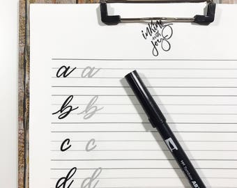 How to Hand Letter - Lettering Worksheets - Lowercase