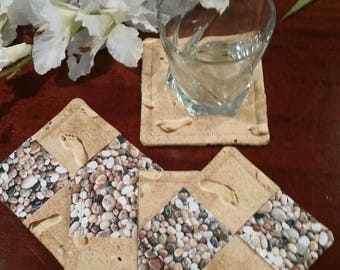 Fabric Coasters, Footprints In The Sand, Stemware Coasters, Wine Glass Coasters, Criss Cross Coasters, Slipper Coasters, Stem Glass Coasters