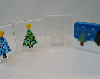 fused glass nightlight holders
