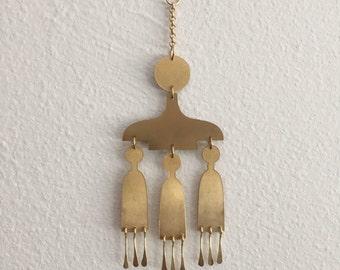 Mini Brass Wall Hanging