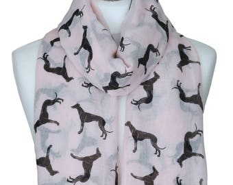 Greyhound Scarf, Greyhounds, Dog Scarf, Scarf, Lightweight, Greyhound Gifts, Winter Scarf, Pet Scarf, Animal Scarf, Women Scarf, Accessories